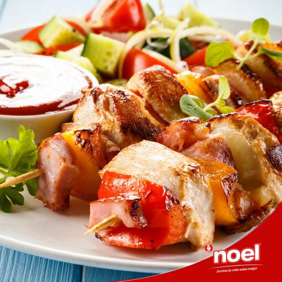 Recetas Cenas Especiales Noel - Brochetas de pollo y verduras