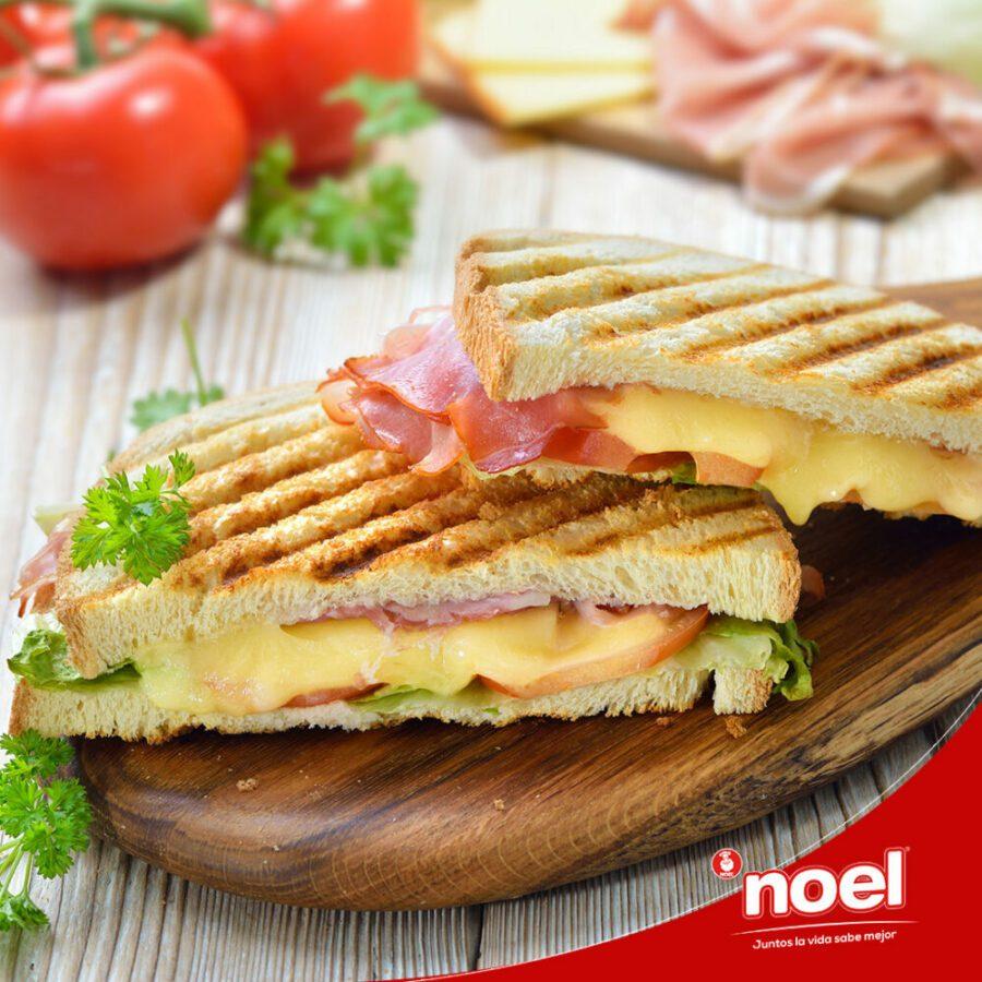 Recetas Cenas Especiales Noel - Panini de queso, jamón y manzana